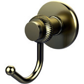 Mercury Collection Robe Hook with Twisted Accents, Satin Brass