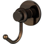 Mercury Collection Robe Hook with Twisted Accents, Venetian Bronze