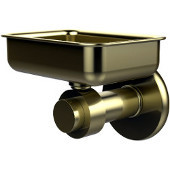 Mercury Collection Wall Mounted Soap Dish, Premium Finish, Satin Brass