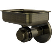 Mercury Collection Wall Mounted Soap Dish with Dotted Accents, Antique Brass