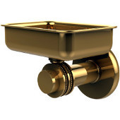 Mercury Collection Wall Mounted Soap Dish with Dotted Accents, Polished Brass