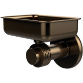 Mercury Collection Wall Mounted Soap Dish with Groovy Accents, Brushed Bronze