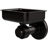 Mercury Collection Wall Mounted Soap Dish with Groovy Accents, Oil Rubbed Bronze