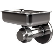 Mercury Collection Wall Mounted Soap Dish with Groovy Accents, Polished Chrome