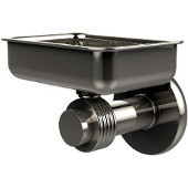 Mercury Collection Wall Mounted Soap Dish with Groovy Accents, Polished Nickel