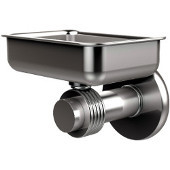 Mercury Collection Wall Mounted Soap Dish with Groovy Accents, Satin Chrome