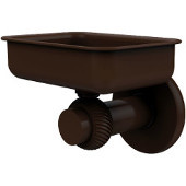 Mercury Collection Wall Mounted Soap Dish with Twisted Accents, Antique Bronze
