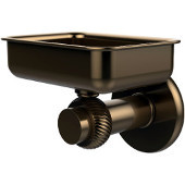 Mercury Collection Wall Mounted Soap Dish with Twisted Accents, Brushed Bronze