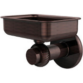 Mercury Collection Wall Mounted Soap Dish with Twisted Accents, Antique Copper
