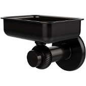 Mercury Collection Wall Mounted Soap Dish with Twisted Accents, Oil Rubbed Bronze