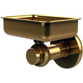 Mercury Collection Wall Mounted Soap Dish with Twisted Accents, Unlacquered Brass