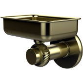 Mercury Collection Wall Mounted Soap Dish with Twisted Accents, Satin Brass