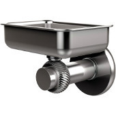 Mercury Collection Wall Mounted Soap Dish with Twisted Accents, Satin Chrome