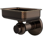 Mercury Collection Wall Mounted Soap Dish with Twisted Accents, Venetian Bronze