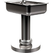 Vanity Top Soap Dish with Twisted Accents, Polished Chrome