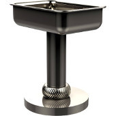 Vanity Top Soap Dish with Twisted Accents, Polished Nickel