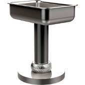Vanity Top Soap Dish with Twisted Accents, Satin Chrome