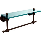 Astor Place Collection 16'' Shelf with Towel Bar, Premium Finish, Rustic Bronze