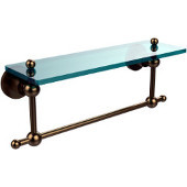 Astor Place Collection 16'' Shelf with Towel Bar, Premium Finish, Brushed Bronze