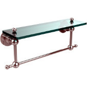 Astor Place Collection 16'' Shelf with Towel Bar, Standard Finish, Polished Chrome