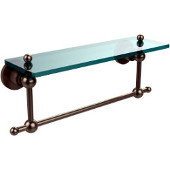 Astor Place Collection 16'' Shelf with Towel Bar, Premium Finish, Antique Pewter