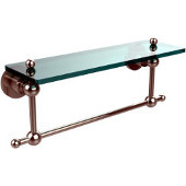 Astor Place Collection 16'' Shelf with Towel Bar, Premium Finish, Polished Nickel
