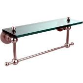 Astor Place Collection 16'' Shelf with Towel Bar, Premium Finish, Satin Chrome