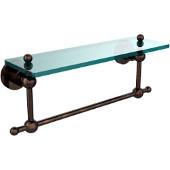 Astor Place Collection 16'' Shelf with Towel Bar, Premium Finish, Venetian Bronze