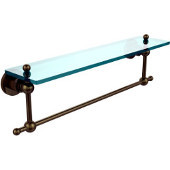 Astor Place Collection 22'' Shelf with Towel Bar, Premium Finish, Antique Brass