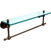 Astor Place Collection 22'' Shelf with Towel Bar, Premium Finish, Brushed Bronze