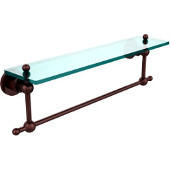 Astor Place Collection 22'' Shelf with Towel Bar, Premium Finish, Antique Copper