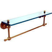 Astor Place Collection 22'' Shelf with Towel Bar, Standard Finish, Polished Brass