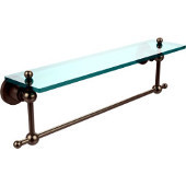 Astor Place Collection 22'' Shelf with Towel Bar, Premium Finish, Antique Pewter