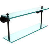 Astor Place Collection 22'' Double Glass Shelf, Premium Finish, Oil Rubbed Bronze