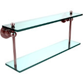 Astor Place Collection 22'' Double Glass Shelf, Standard Finish, Polished Chrome
