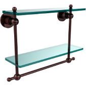 Astor Place Collection 16'' Double Shelf w/Towel Bar, Premium Finish, Antique Copper
