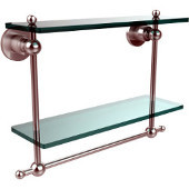 Astor Place Collection 16'' Double Shelf w/Towel Bar, Premium Finish, Satin Chrome