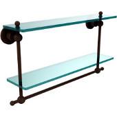 Astor Place Collection 22'' Double Shelf w/Towel Bar, Premium Finish, Rustic Bronze