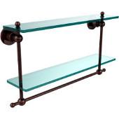 Astor Place Collection 22'' Double Shelf w/Towel Bar, Premium Finish, Antique Copper