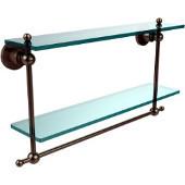 Astor Place Collection 22'' Double Shelf w/Towel Bar, Premium Finish, Antique Pewter