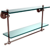 Astor Place Collection 22'' Double Shelf w/Towel Bar, Premium Finish, Polished Nickel
