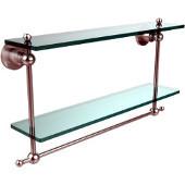 Astor Place Collection 22'' Double Shelf w/Towel Bar, Premium Finish, Satin Chrome