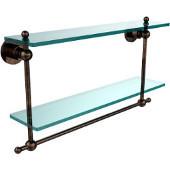 Astor Place Collection 22'' Double Shelf w/Towel Bar, Premium Finish, Venetian Bronze