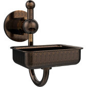Astor Place Collection Soap Dish w/Glass Dish, Premium Finish, Venetian Bronze