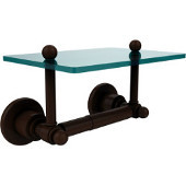 Astor Place Collection Two Post Toilet Tissue Holder with Glass Shelf, Antique Bronze