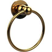 Bolero Collection Towel Ring, Unlacquered Brass