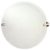 Round Tilt Mirror w/ beveled edge, Waverly Place, 22'' dia., Premium, Brushed Bronze