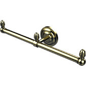 Que New Collection 2 Arm Guest Towel Holder, Satin Brass