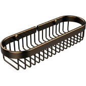 Oval Toiletry Wire Basket, Brushed Bronze