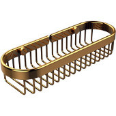 Oval Toiletry Wire Basket, Polished Brass